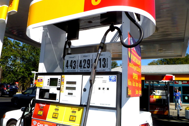Some Greenwich gas stations are struggling with supply after Hurricane Sandy.