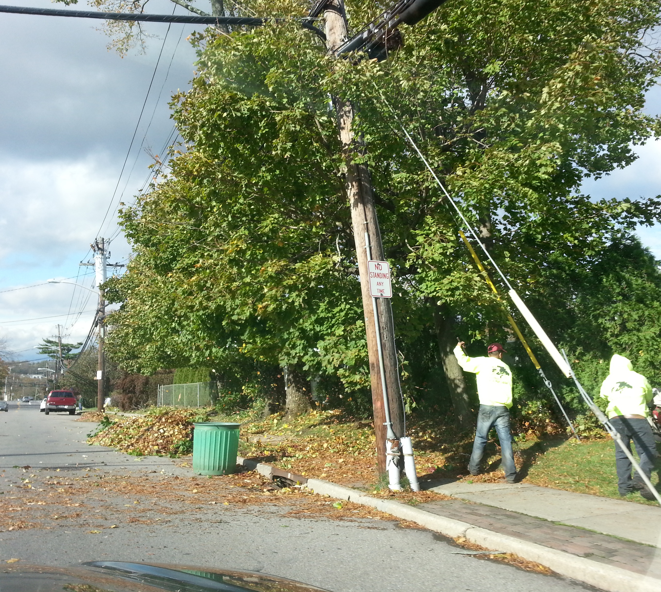 Lines throughout Westchester County are still being repaired in the days after Hurricane Sandy. Cable and satellite customers may be eligible for post-storm credits from providers for the days service was out.