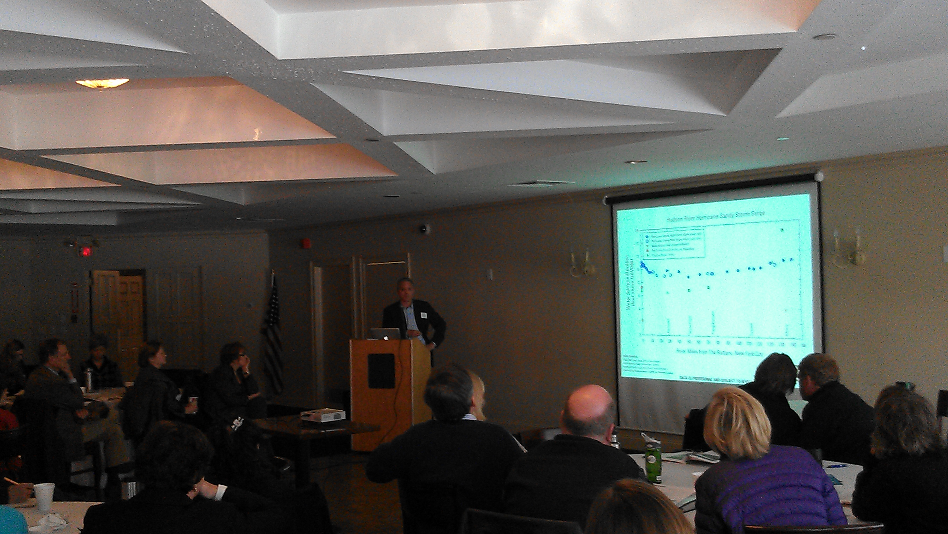Sacha Spector of Scenic Hudson was among the presenters at Thursday's seminar in Peekskill.