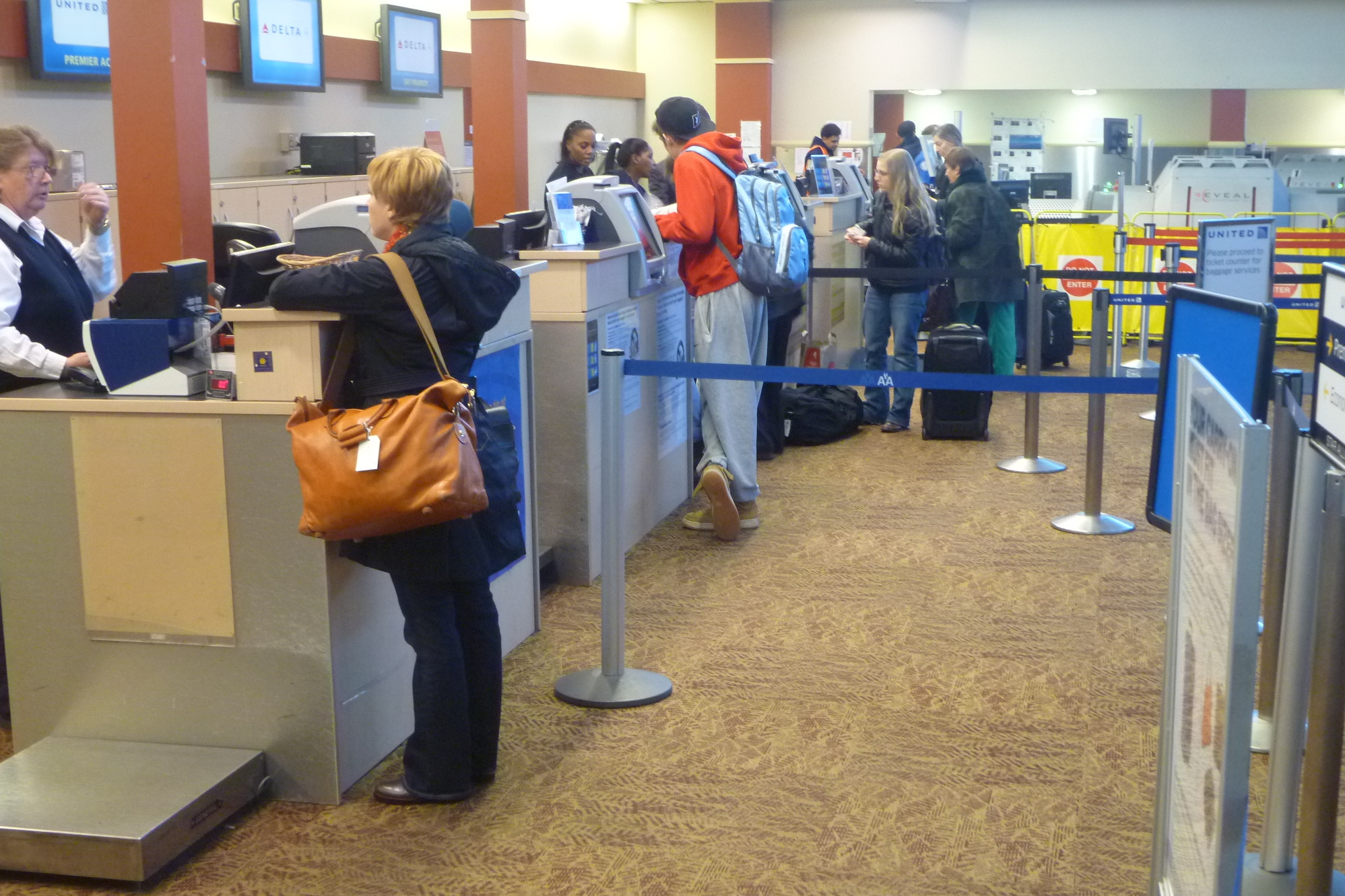 The Westchester County Airport had travelers flying in and out al day Wednesday for Thanksgiving.