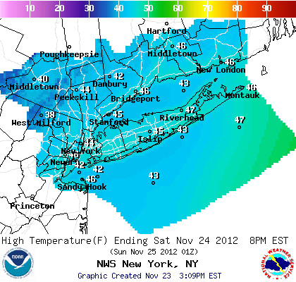Saturday will be cool and breezy in Westchester County.