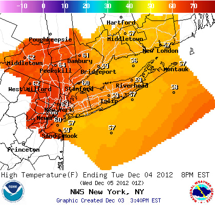 Tuesday will be unseasonably warm in Westchester County.