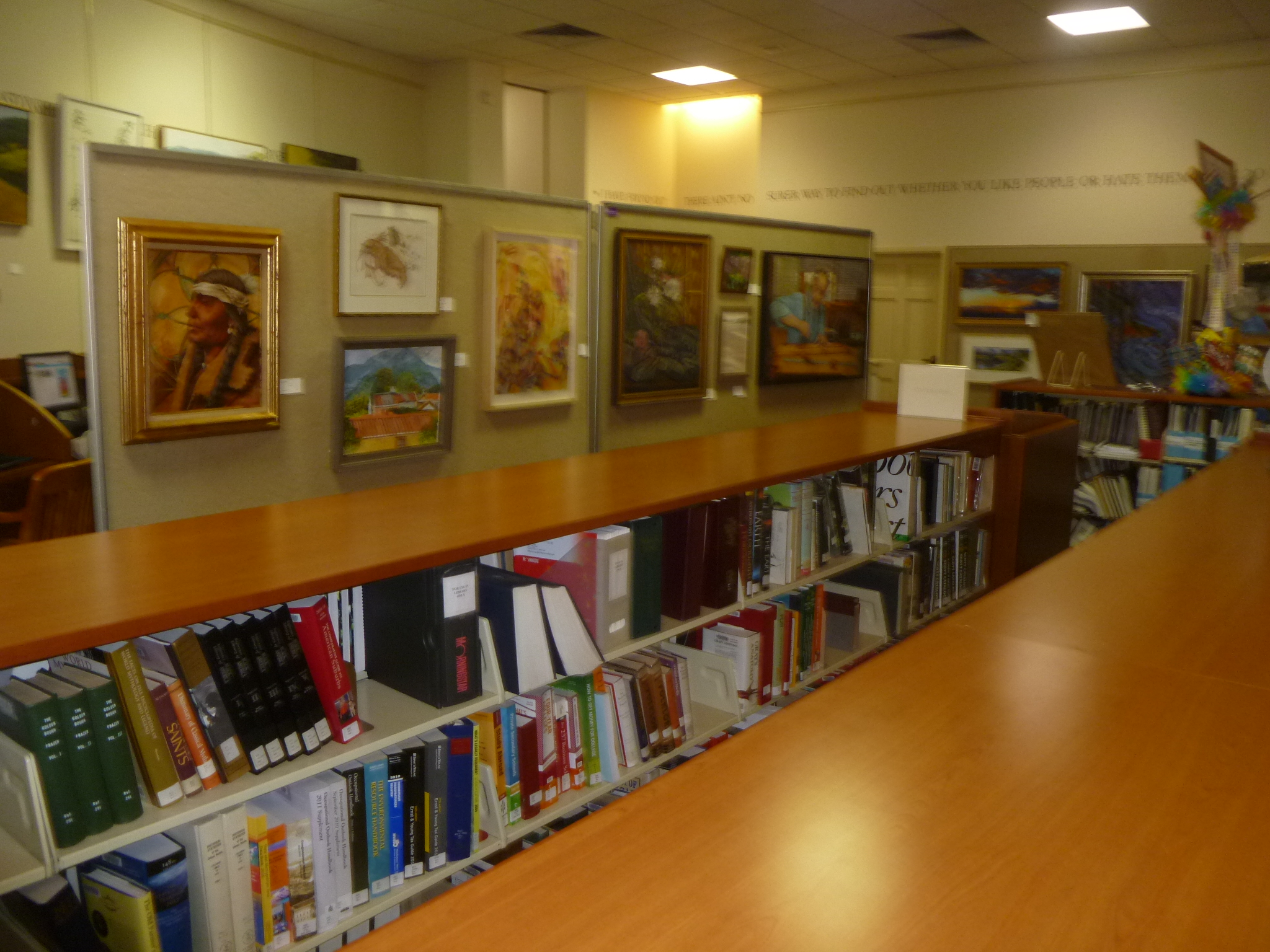 Paintings and other works of art are on display and for sale at the Mark Twain Library Art Show this week.