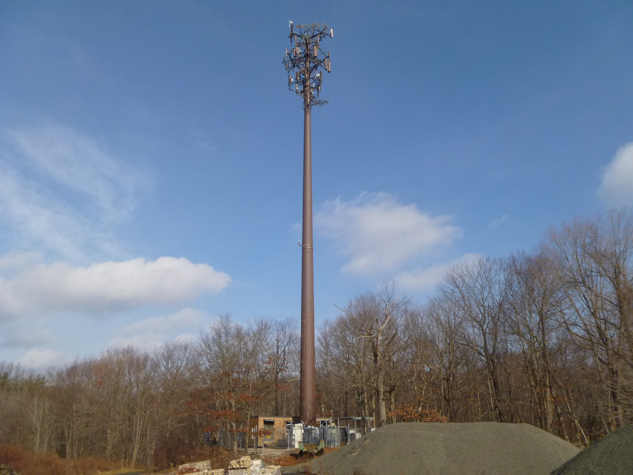 The cell tower on North Street is one of two the Easton Planning & Zoning Commission has approved. It is currently conducting a study of possible additional locations.