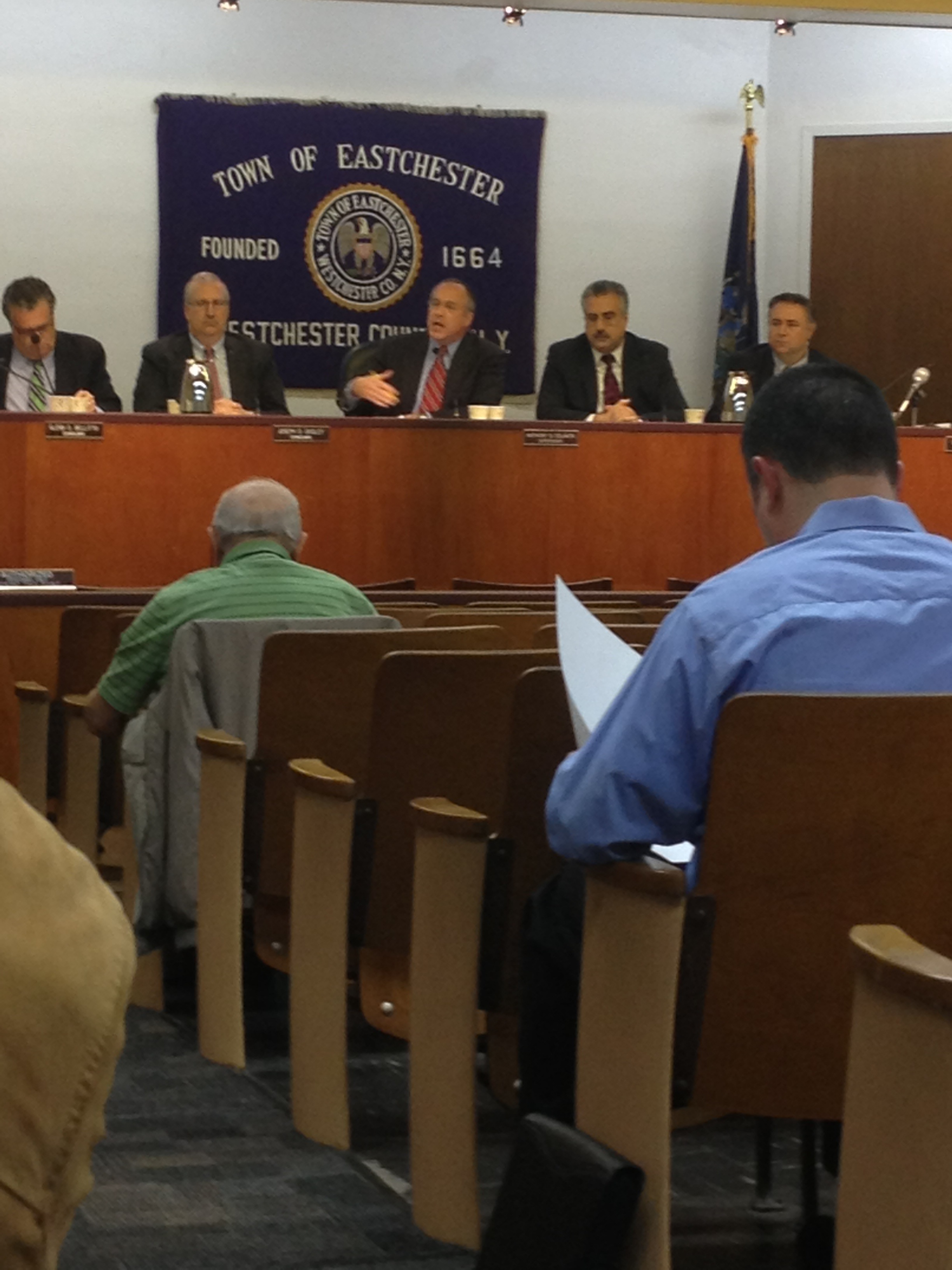 Eastchester Town Supervisor Anthony Colavita responds to a resident that criticized the budget.