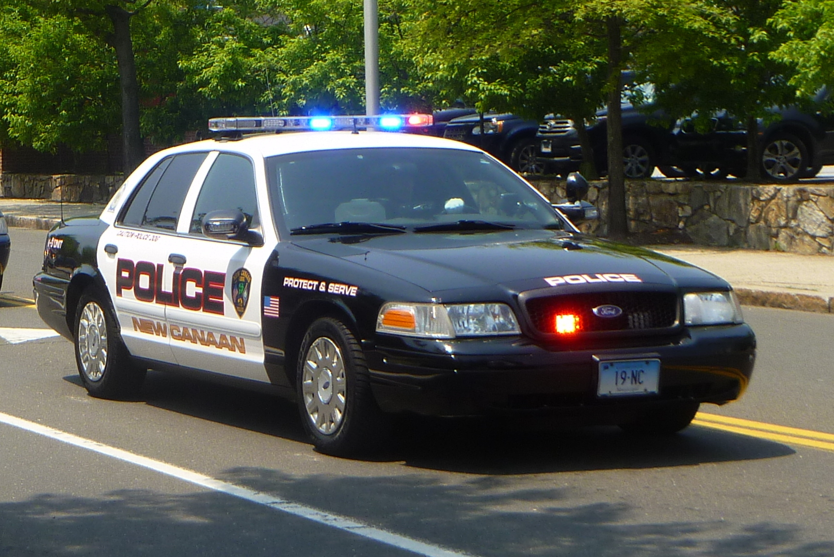 New Canaan Police are looking for whoever stole about $50,000 in copper downspouts from a town residence.
