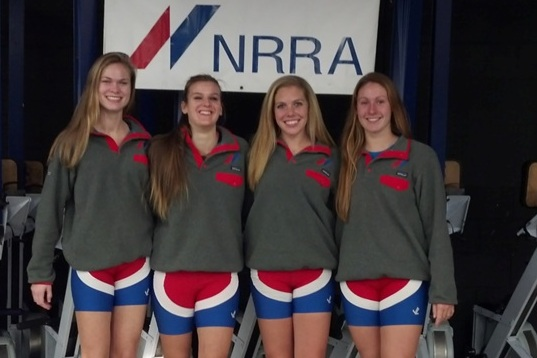Norwalk River Rowing Association girls (from left) Amanda Jenkins (Wilton), Julia Barr (Norwalk), Kylie O'Conner (Wilton) and  Maggie Walsh (Trumbull) will row for Division I college teams.