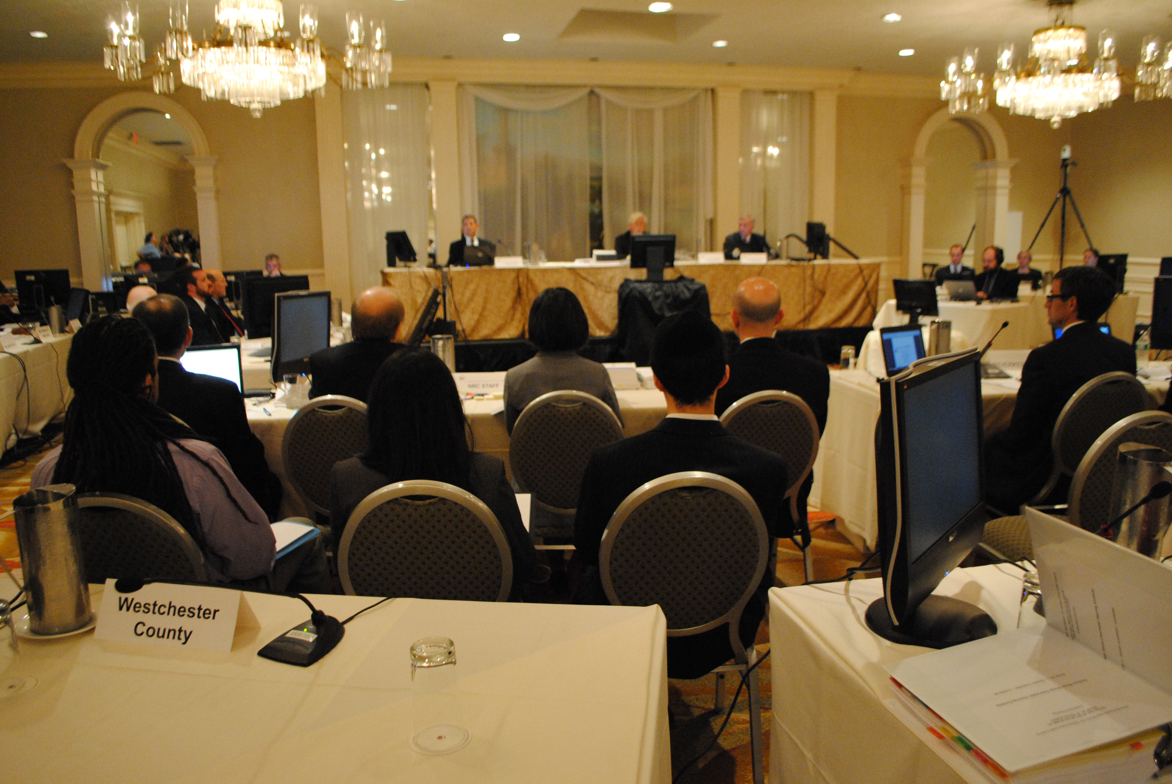 This is the Atomic Safety and Licensing Board hearings, which are being held at the DoubleTree Hotel in Tarrytown.