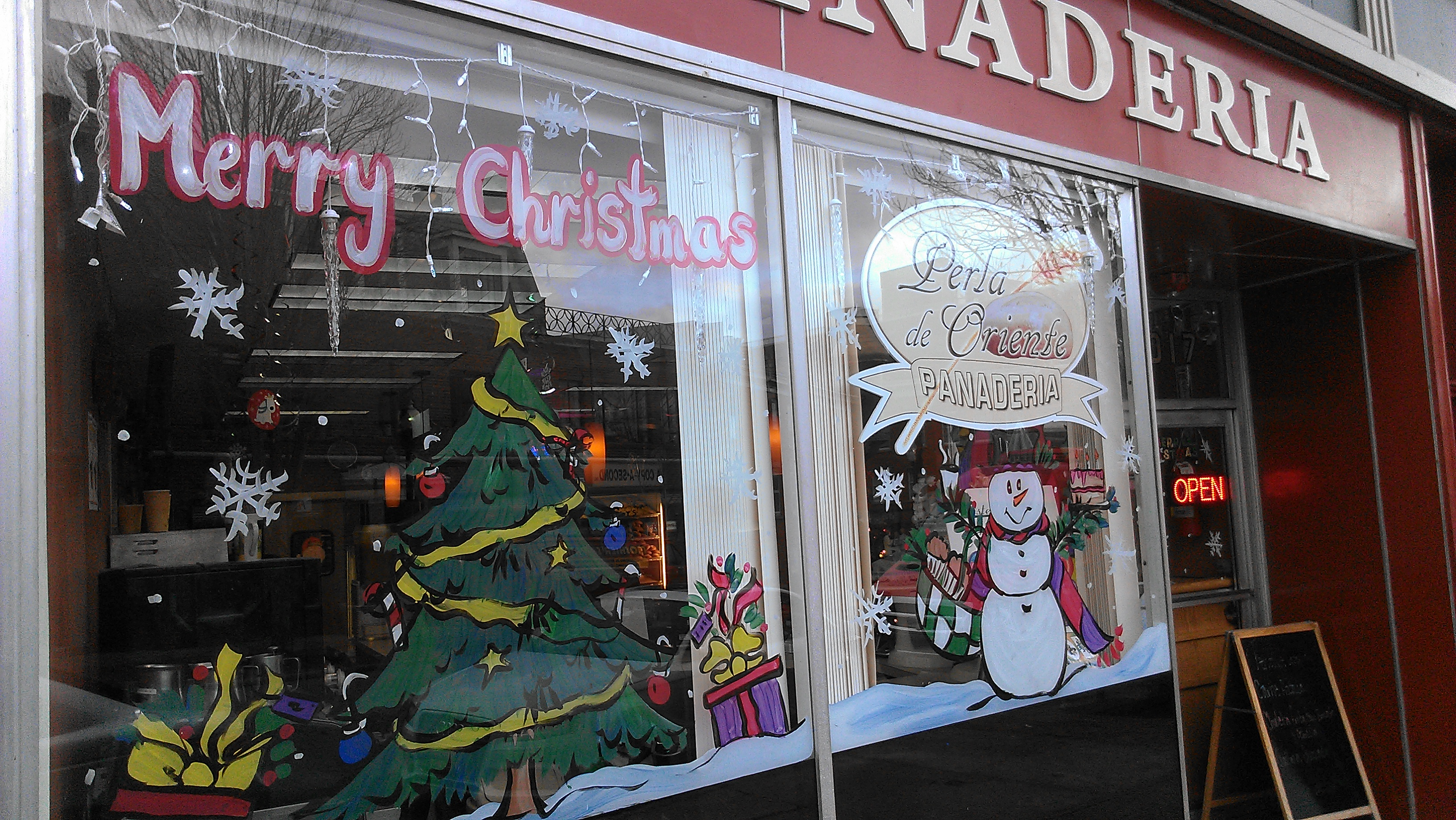 One of dozens of festive window displays in downtown Peekskill brightens this holiday season.