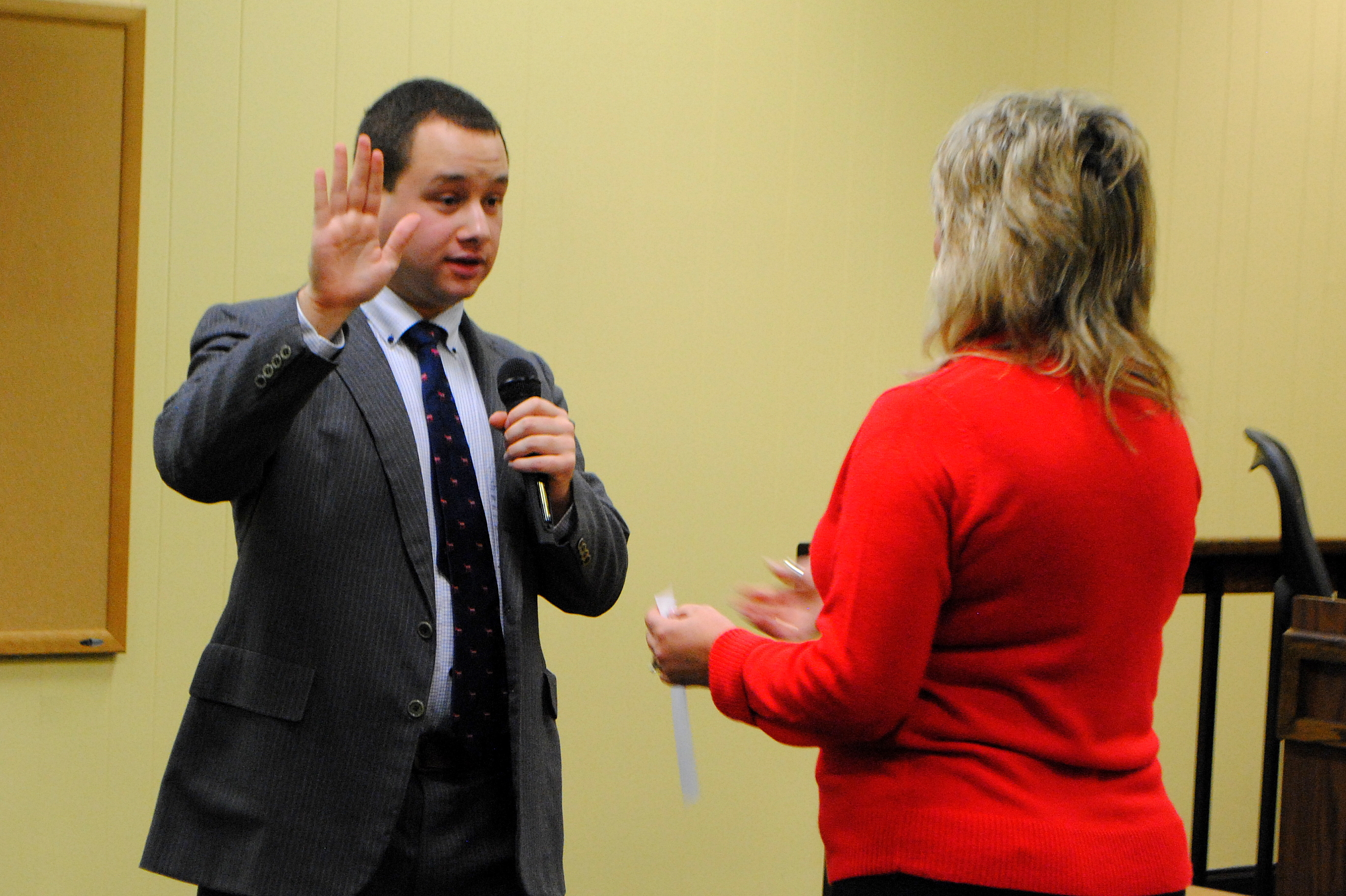 Kevin Davis was recently sworn in as Croton village trustee, an upset in a rare three-way Democratic primary in September.