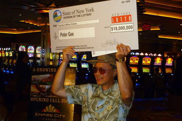 Peter Gee, 59, of Cortlandt, was the sole winner of an $18 million New York State Lotto jackpot.