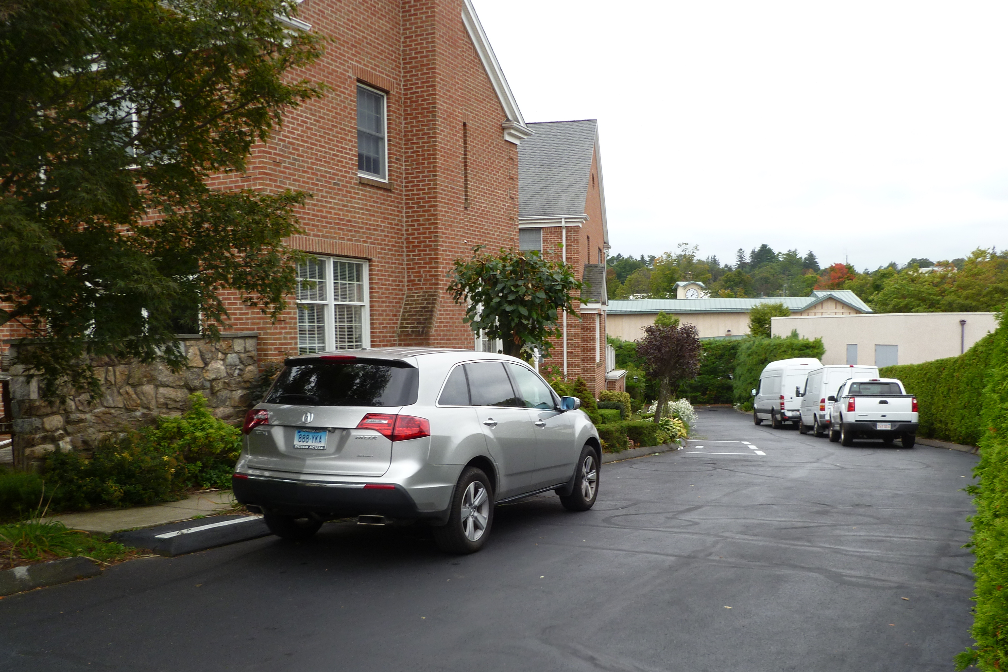 New Canaan Police responded to a call of shots fired Sept. 21 at this condominium complex on Park Street. It was later determined that James Owen shot and killed his wife, Billie D. Falgout-Owen, before shooting himself.