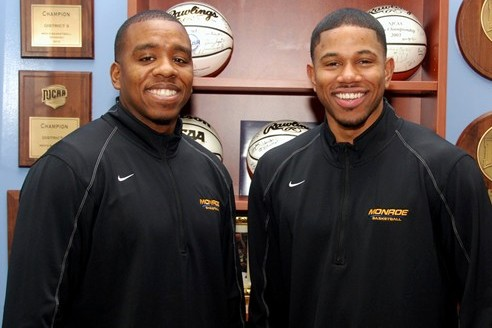 Ricky Johns (r.) joined Dana Warner as an assistant coach for the Monroe College men's basketball team this season.