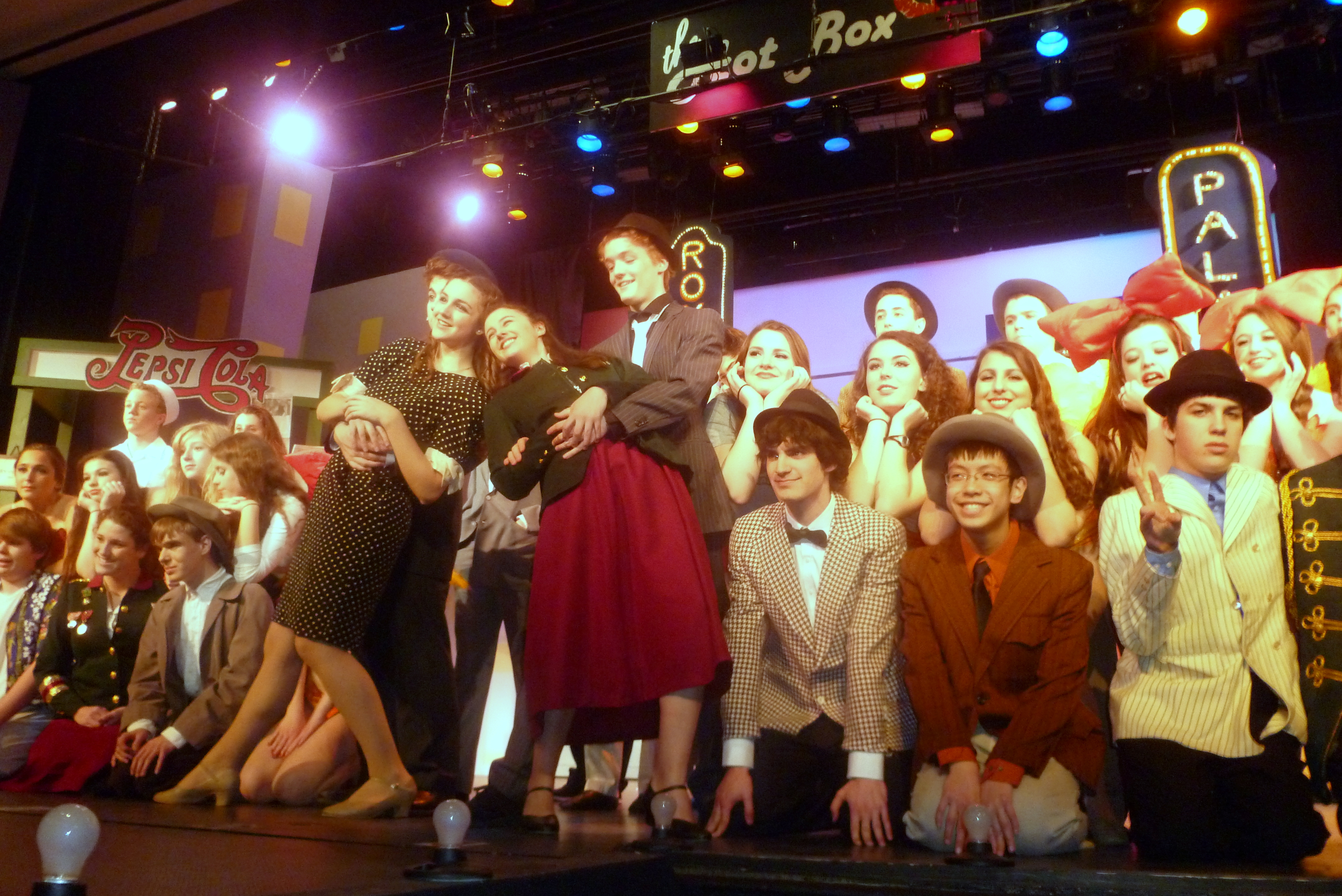 "The cast from last year's John Jay spring musical, ""Guys & Dolls."" Some alumni will return to perform in ""Encore Cabaret."""