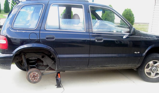 The tires and rims were stripped off three cars in Greenburgh on Dec. 31, police said.