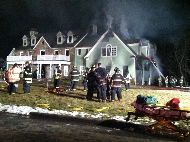 A home on Stone Bridge Lane in Bedford Hills sustained extensive damage in a fire Tuesday night. The cause of the fire is still under investigation, fire officials said.