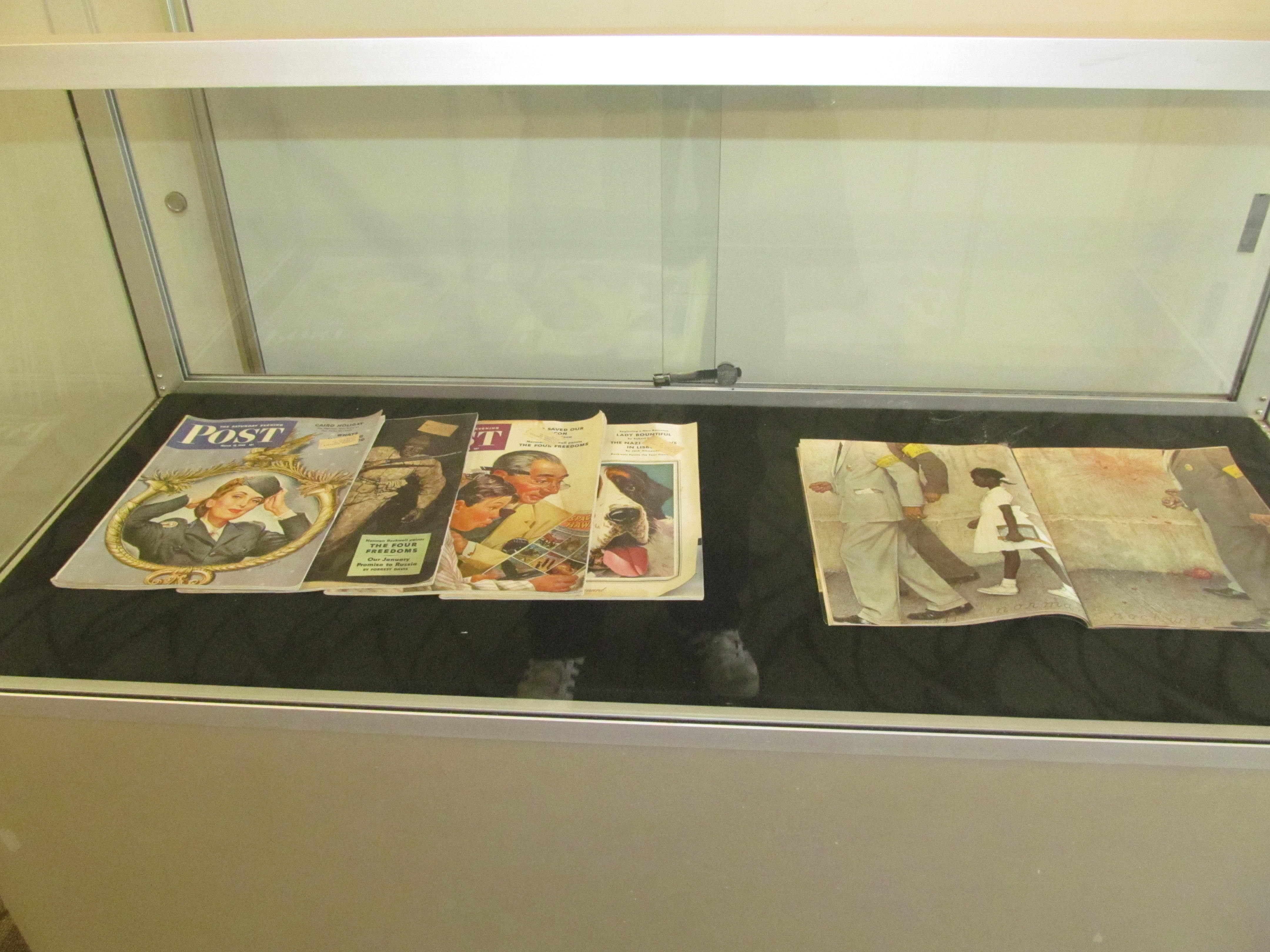 Norman Rockwell's illustrations are on display at the New Rochelle Public Library.