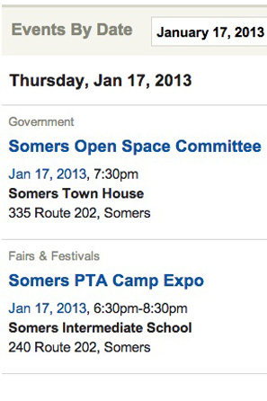 Add your event to The Somers Daily Voice Events page.