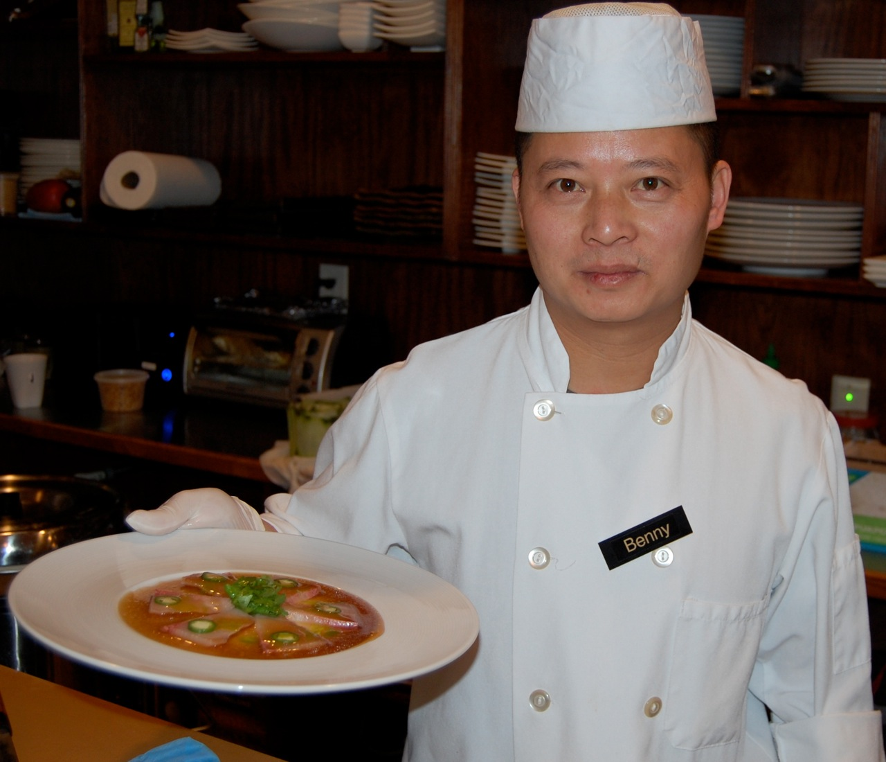 Chef Benny Chow presents one of his many unique — and off-the-menu — dishes at his Ki Asian Bistro in Danbury.