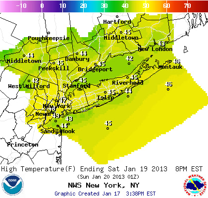It will be cool and dry Saturday across Westchester County, according to the National Weather Service.