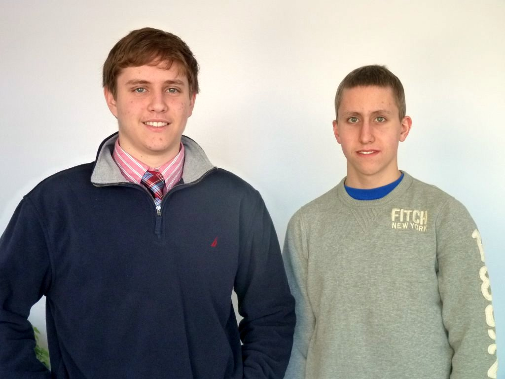 Dan Fulop, left, and Kevin Pawlak, seniors at John Jay High, are semi-finalists in the the Intel Science Talent Search.