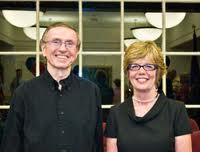 Former Redding Highway Superintendent Bruce Sanford and First Selectman Natalie Ketcham.