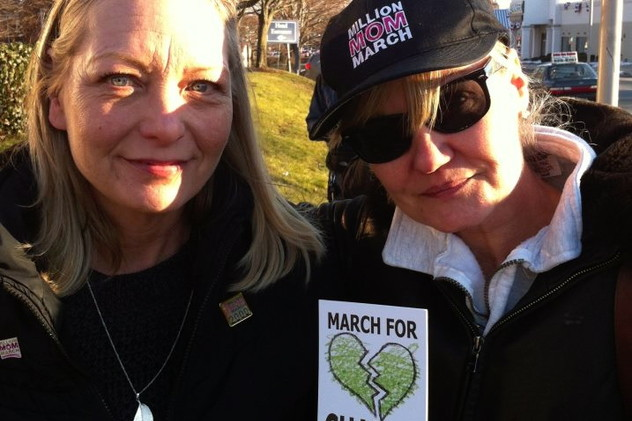 Donna Dees Thomases and Linda Payne DiSarro, who founded the One Million Mom March after the Columbine shooting, are also members of One Million Moms For Gun Control.