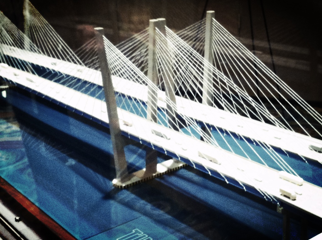 A 3-D model of the new Tappan Zee Bridge was showcased at a meeting of state officials Friday in Tarrytown.