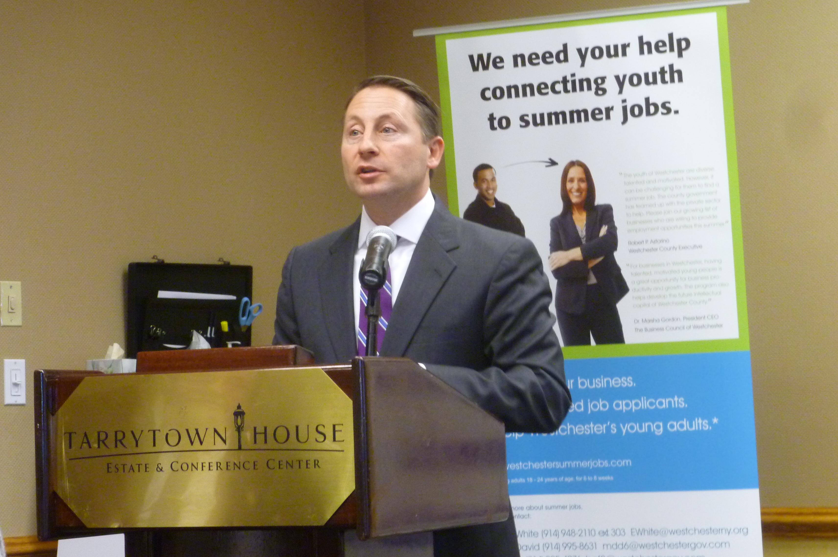 Westchester County Executive Rob Astorino praised the summer jobs program on Thursday.