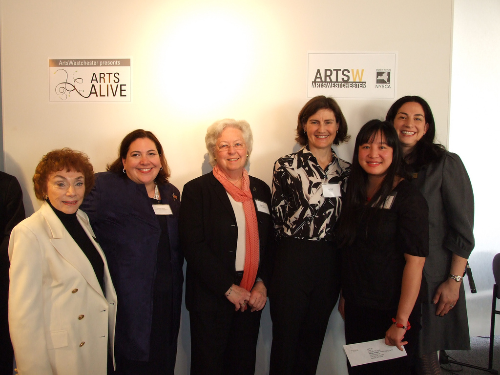 Members of the Peekskill Arts Alliance and Lana Yu at last year's Arts Alive event. They have received grant funding for art projects again in 2013.