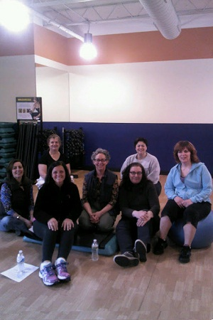 BetterU Westchester participants gathered for a group workout at Will2Lose in Scarsdale.