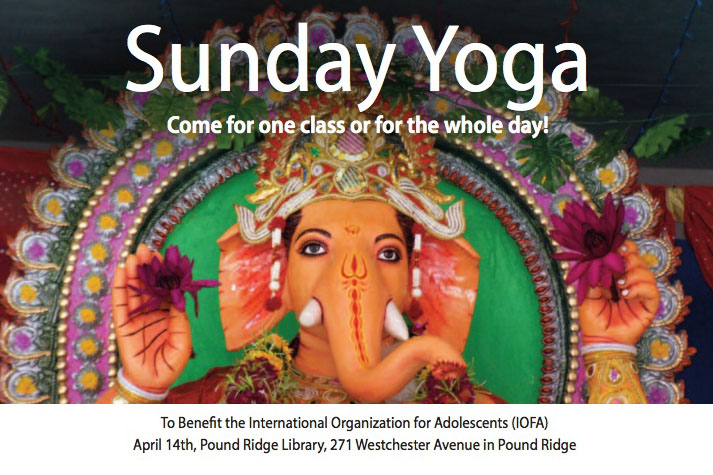 Practice yoga, meditate and chant to raise funds for IOFA at the Pound Ridge Library.