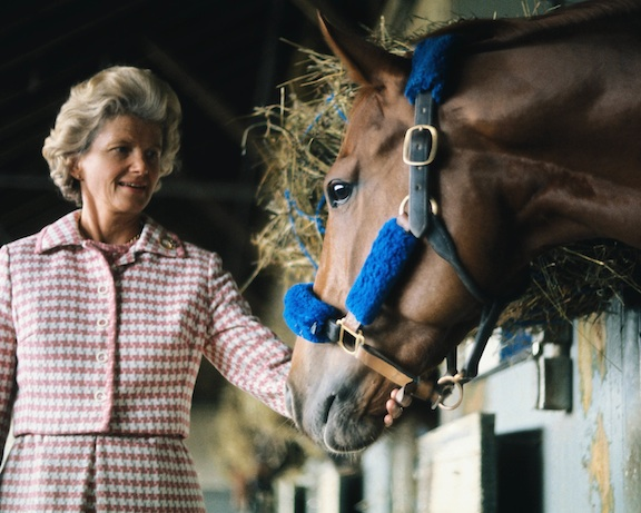 New Rochelle's Penny Chenery and the legendary Secretariat in 1973.