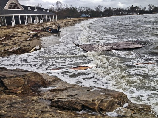 Weed Beach in Darien sustained damage during last fall's Hurricane Sandy, which cost hundreds of thousands of dollars to clean up and repair.