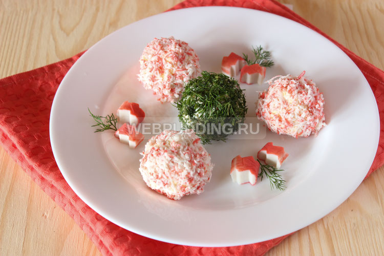 Салат крабовый шарики