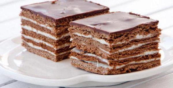 Шоколадный спартак торт