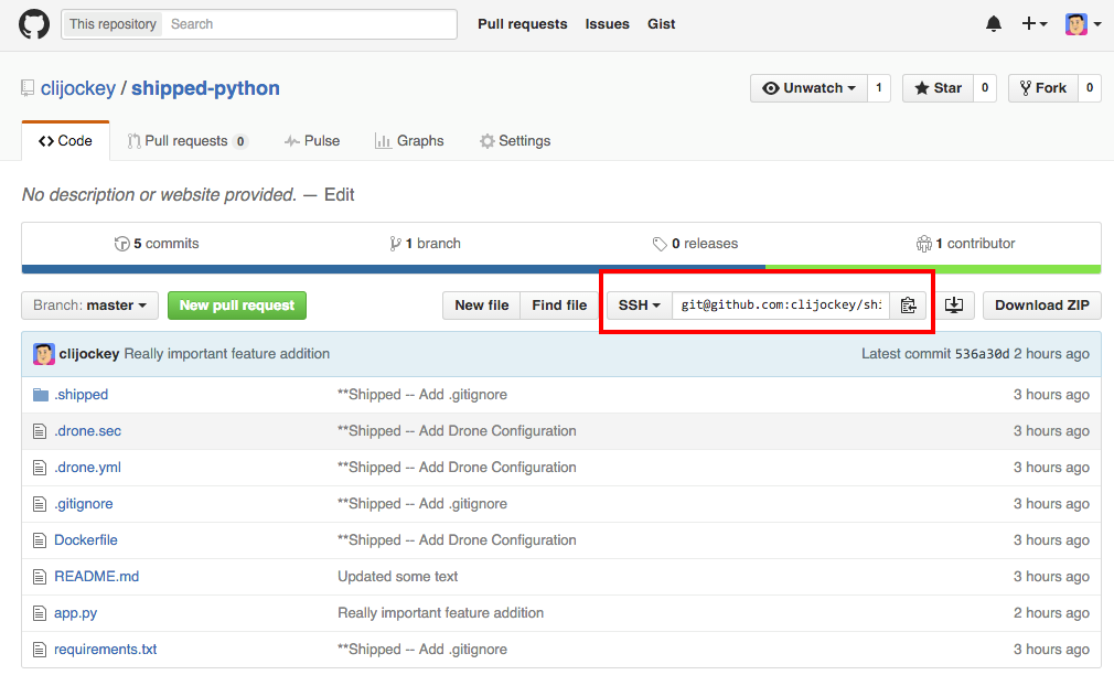 GitHub Repo SSH