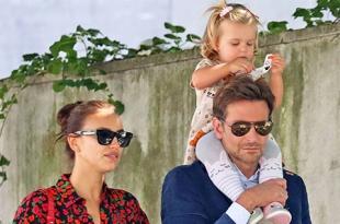 Яркие и стильные Ирина Шейк и Брэдли Купер гуляют по Нью-Йорку с дочерью Леей