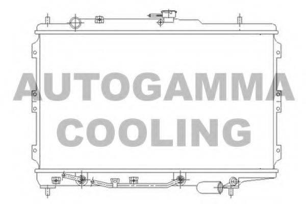 Радиатор, охлаждение двигателя AUTOGAMMA 104659