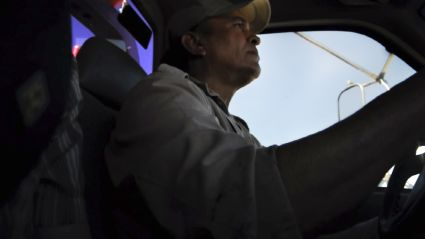 A tow truck driver driving us in Sonora, Mexico.