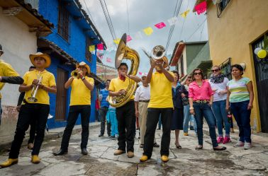 Banda playing in San Cristóbal de las Casas, Chiapas, Mexico