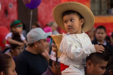 Boy on Day of Our Lady of Guadalupe