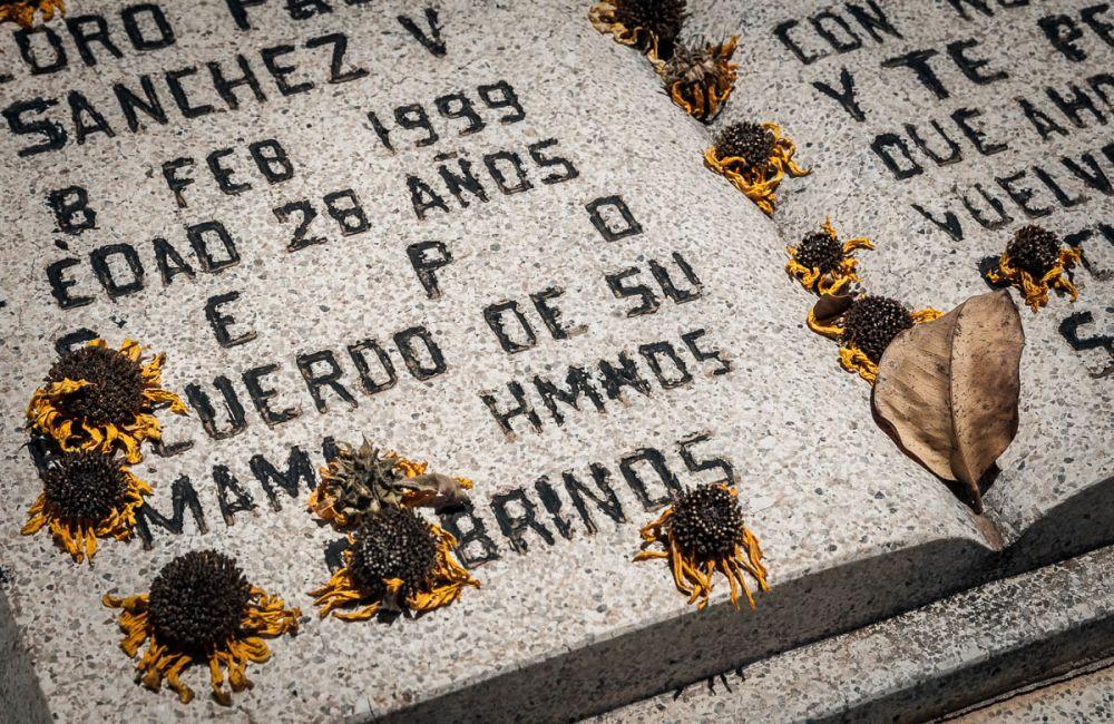 Grave in a cemetery in Sinaloa, Mexico.