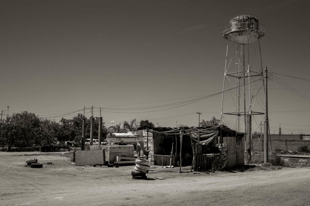 A water tower in Sinaloa, Mexico.