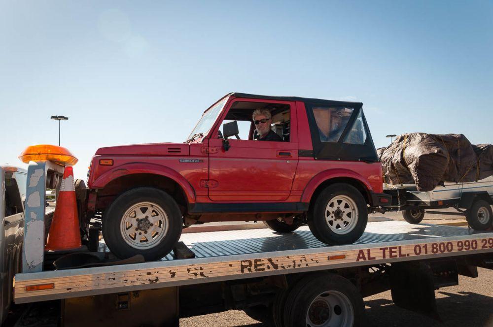 Being towed in Ciudad Obregón, Sonora, Mexico.