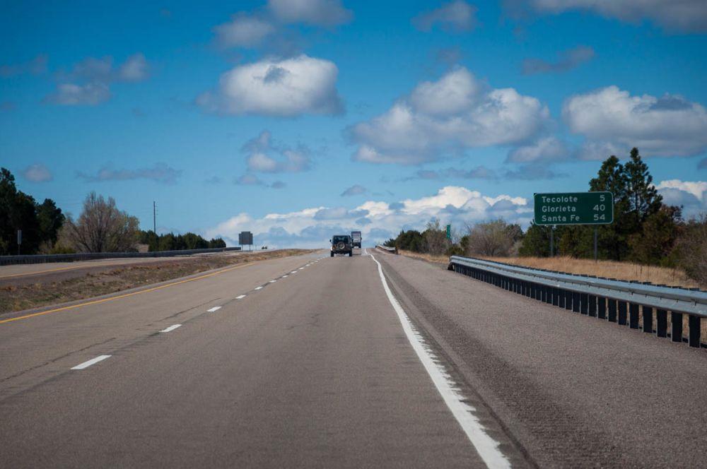 I-5 in northern New Mexico close to Santa Fe.