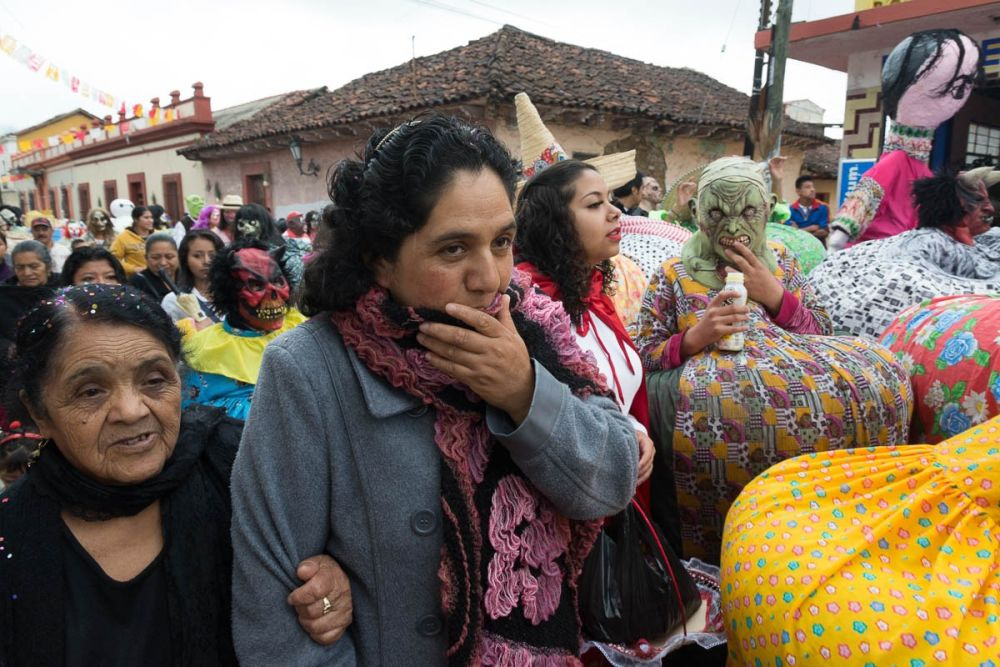 The Fiesta de los Panzones during the Fiesta de la Virgin de la Merced in San Cristóbal de las Casas, Chiapas, Mexico.