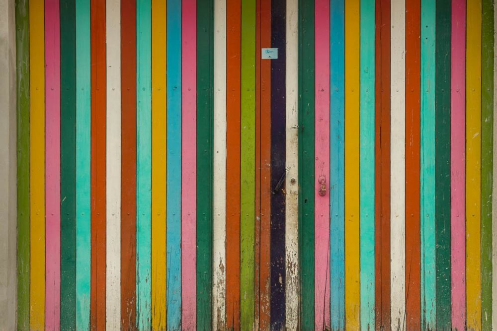 A colorful door in Chiapas, Mexico