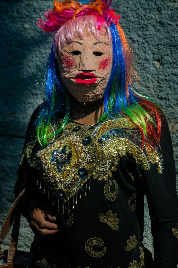 Portrait of a zayaco, one of the traditions from Ajijic, Mexico