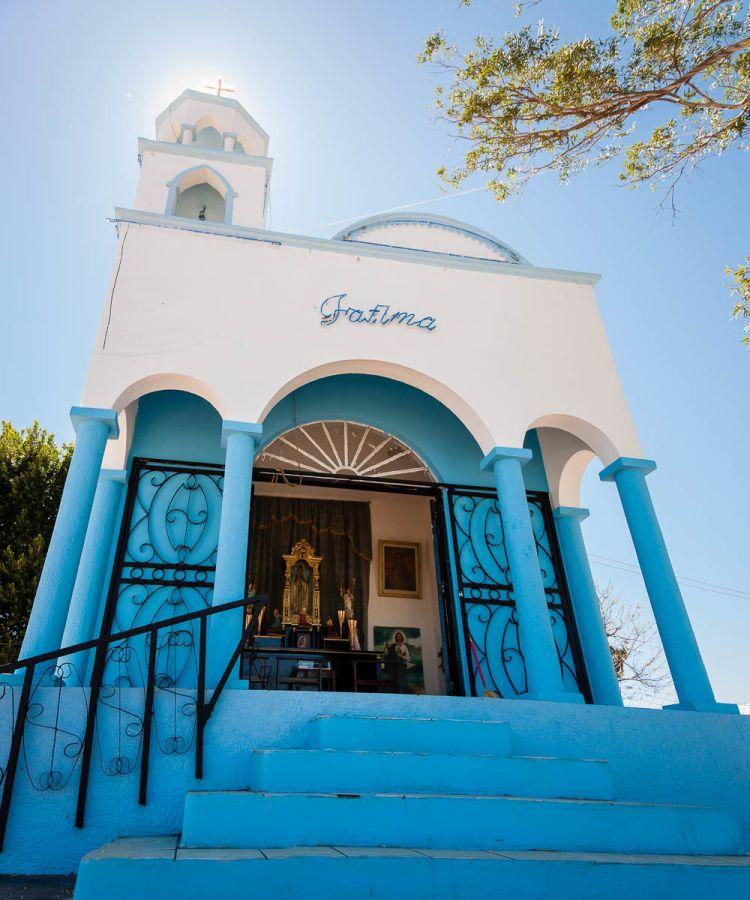 Roadside chapel in Sonora, Mexico.